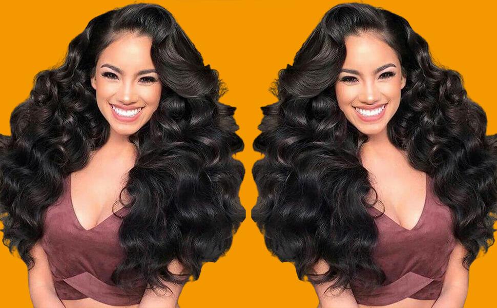 100% human hair brazilian LOOSE Wave Hair