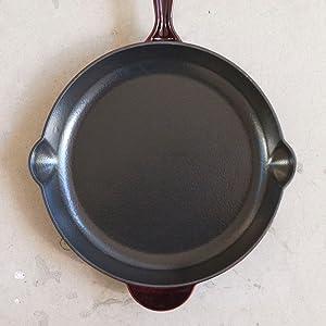 Landhaus cast iron cookware glaze enamel pan pot skillet