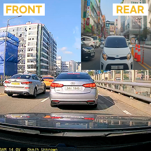 Real HDR LBP Function External GPS Wide Viewing Angle 140/° ADAS2.0 GNET System G6 Dual Dash Cam 2CH FHD HDR Smart Dash Camera Wi-Fi Connected Car Camera with Night Vision Auto Memory Recovery