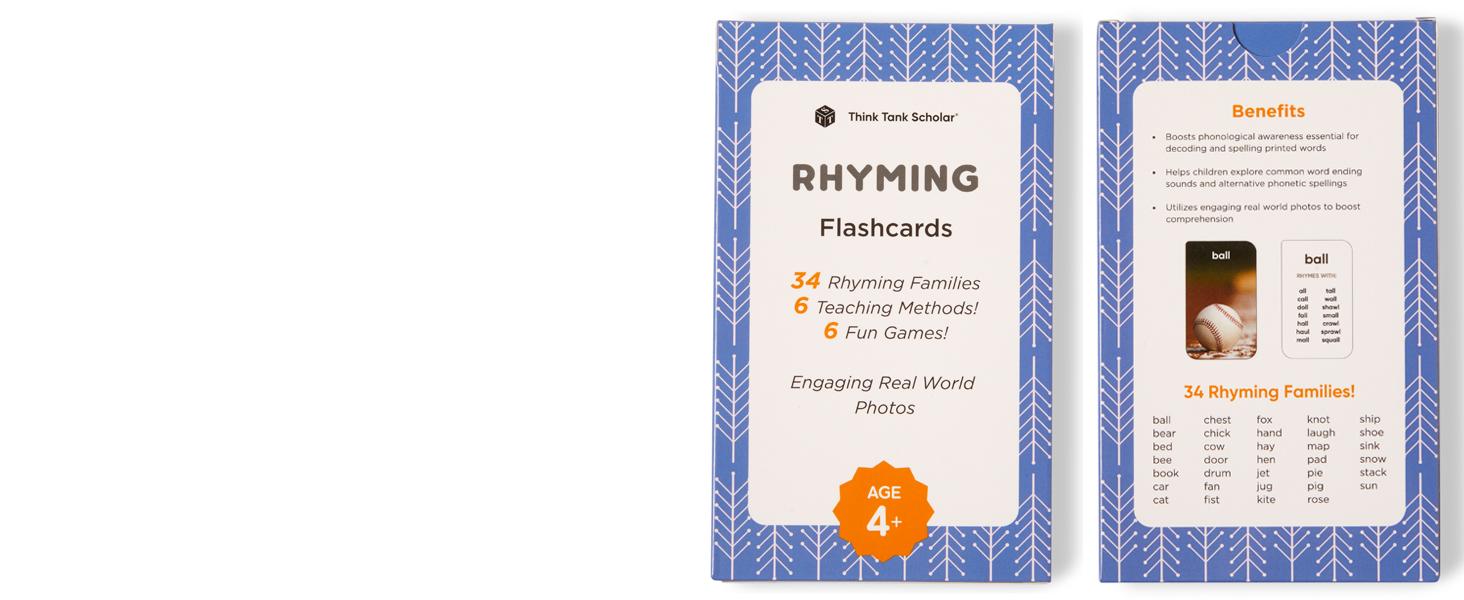 22 Laminated Rhyming Words ELA Flashcards. Handmade Products Toys ...