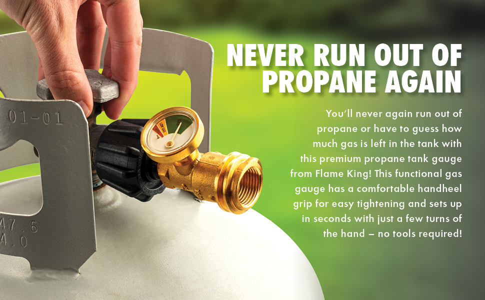Don't run out of Propane