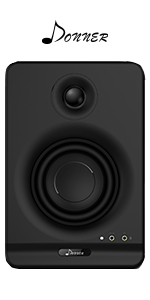 Donner Dyna4 4-Inch(Pair) Black