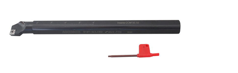 AccusizeTools 3//8/'/' x 6/'/' RH SCLCR Indexable Boring Bar with CCMT Insert,