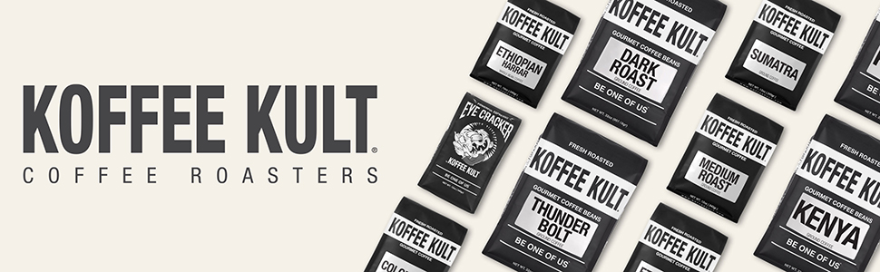 Koffee Kult Coffee Roasters Artisan Coffee Medium Roast 100% Arabica Beans