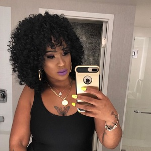 Short Curly Wigs for Black Women Fluffy Wavy Black Synthetic Hair Wig Natural Looking Wig Heat