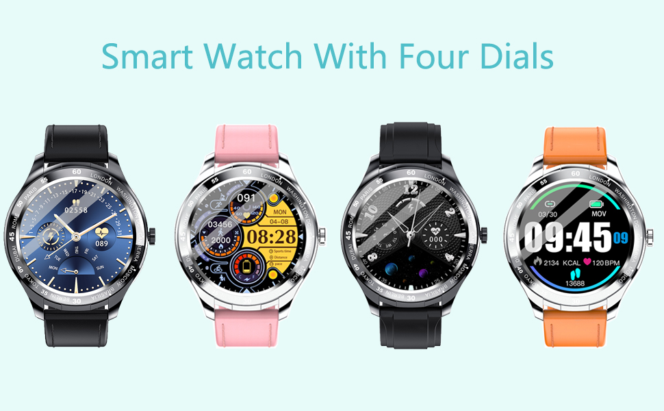 smartwatches  Smart Watch, Fitness Tracker with Heart Rate Monitor, IP68 Waterproof Smartwatch 1.3″ Touch Screen, Activity Tracker Step Counter Sleep Monitor Message Call Pedometer for Women and Men 06b4119e d7b8 47ba 8782 b81b6100e587