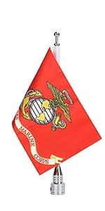 American Flag Flag Pole Mount Harley POW MIA Flag