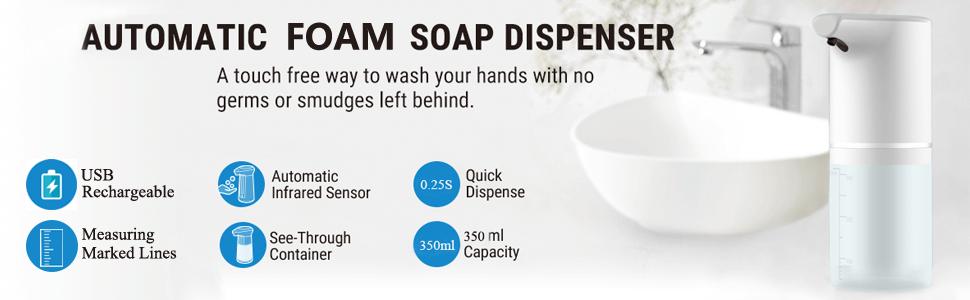 automatic sensor touchless dispenser machine liquid soap foam hand wash disinfectant home bathroom