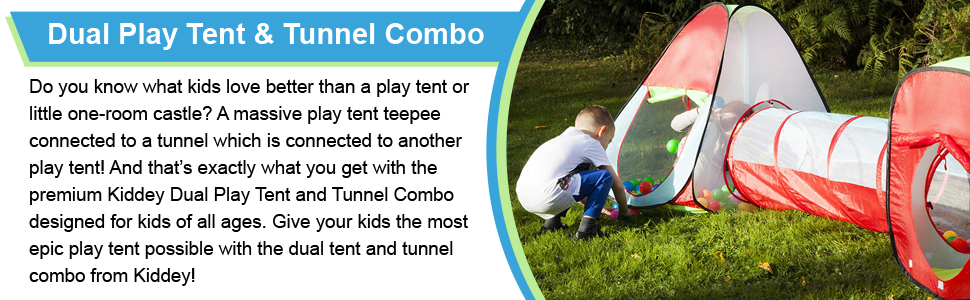 Play tent & tunnel set for boys and girls.