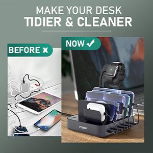 tidy desk charging station