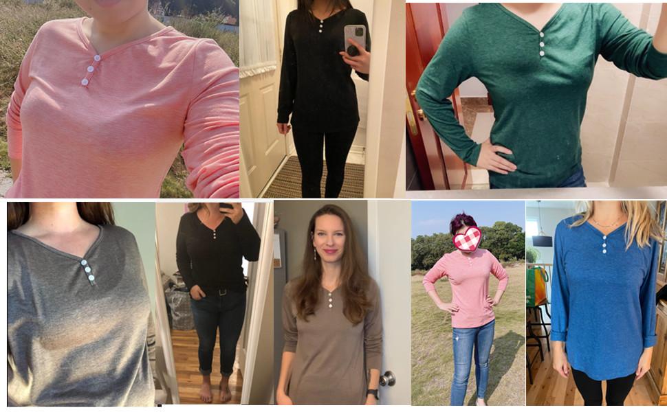 women basic tops long sleeve