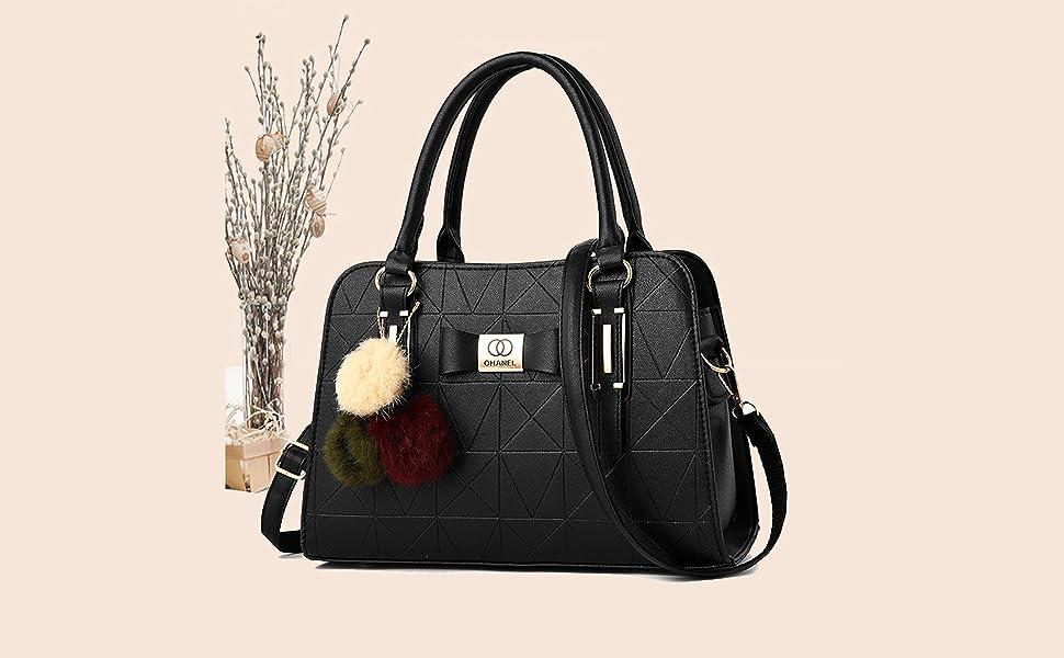 PU Women Handbag Shoulder Bag with Shoulder Strip