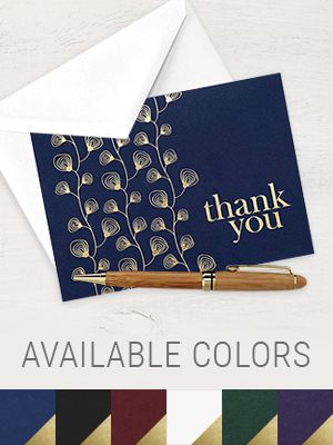 thank you cards envelopes included blank bulk notes gold navy blue 4x6 paper girl greeting card yes