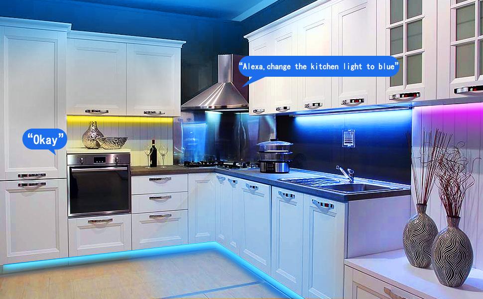 Smarta LED-remsor, JESLED 5 m trådlös WiFi LED-ljusremsa för sovrum, RGB LED-remsor