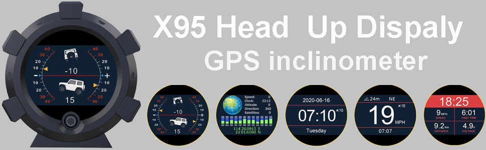 Head up Display Car Dual System 3.5'' HUD OBD II/GPS Interface,Vehicle Speed MPH KM/h,Engine RPM