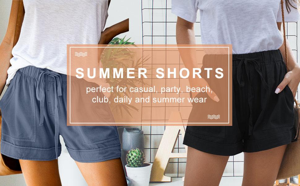 drawstring shorts for women