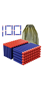 Coodoo Compatible Darts 100 PCS Refill Pack Bullets for Nerf Guns N-Strike Elite Toys for Nerf