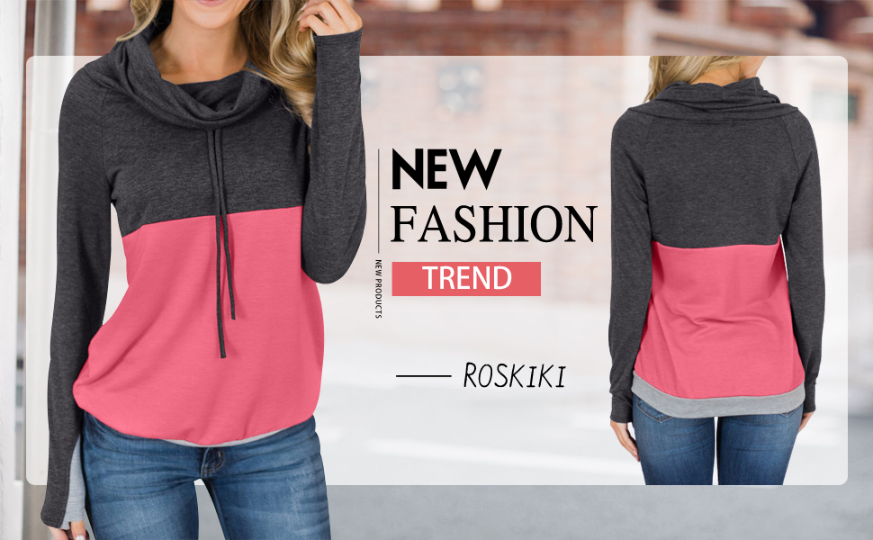 JoyLab Women/'s Mesh Cowl Neck Pullover Size 2X Drawstring Navy Blue Shirt