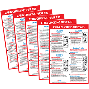 CPR Choking First Aid Posters 5 Pack