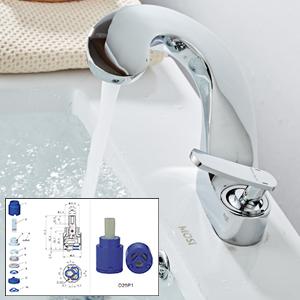 bathroom faucet single hole solid brass