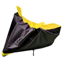 black yellow water proof bike body cover