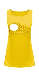 GLAMIX Women's Nursing Sleeveless Shirt