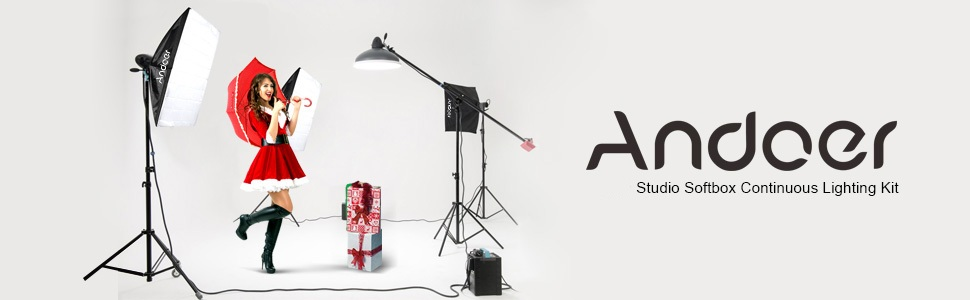 Video Photography Studio Continuous Softbox Lighting System Including 12X45W 5500K LED E27 Bulbs for for Photo Portrait and Product Shooting Andoer 2400W Lighting Kit