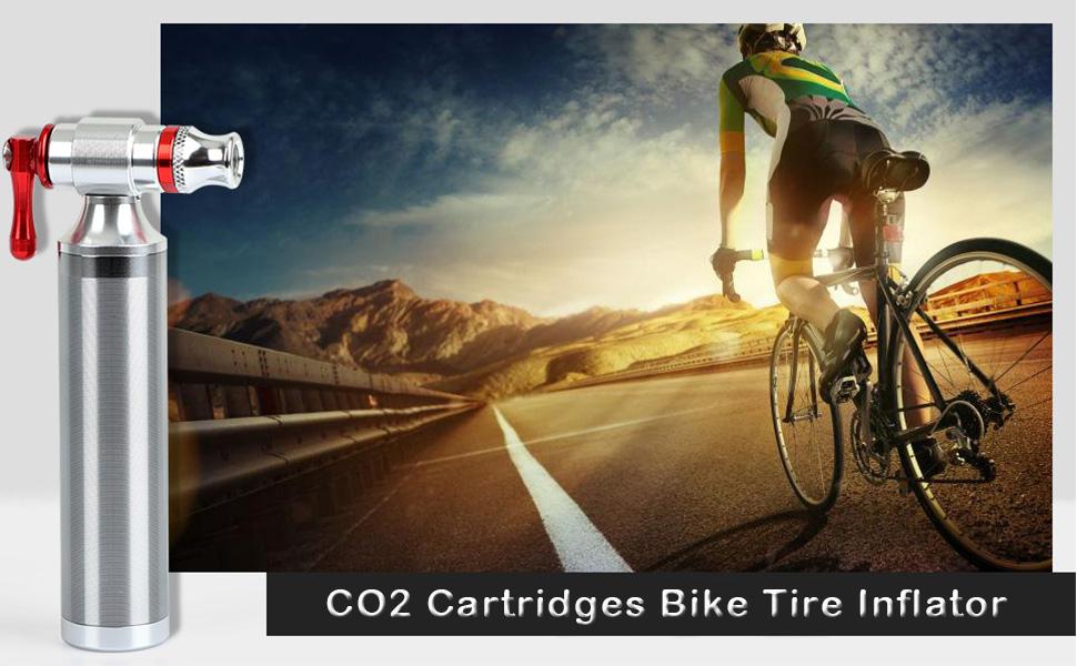 Mini CO2 Inflator Bikes Tire Hand Pump For Snow Mountain Biking Road