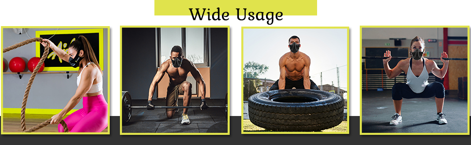 Comfortable breathing device for high intensity workout.