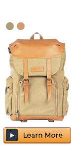 canvas camera bag backpack