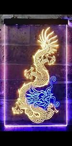 ADVPRO line-art LED neon sign light artwork man cave home decor-ation   dragon Chinese Japanese