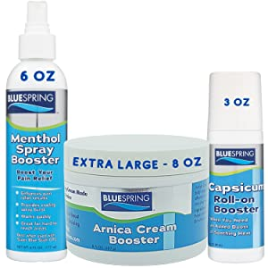 pain relief cream boosters arnica menthol spray capsicum roll-on