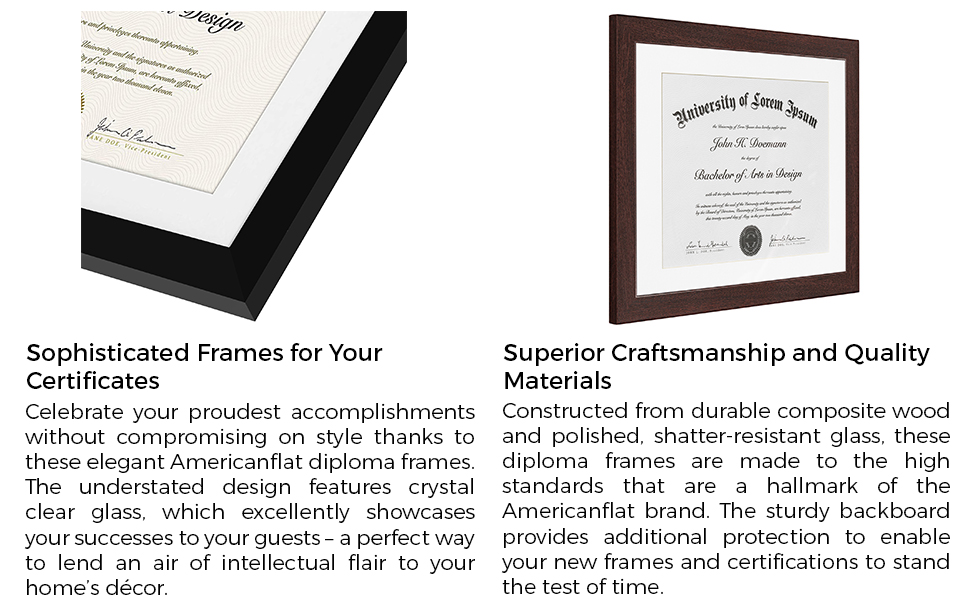 hanging diploma frames