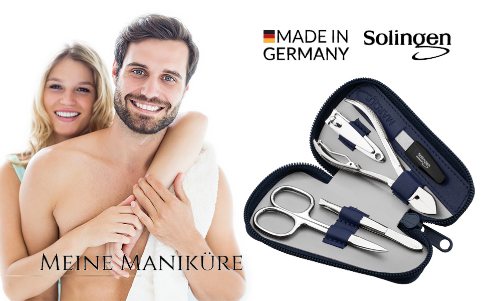 marqus manicure set made in germany solingen for her and him