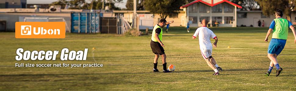 Ubon 9.8 x 6.7 Portable Soccer Goal