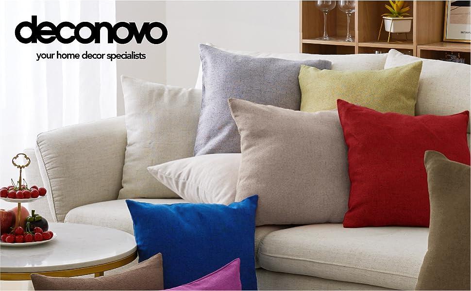 throw pillow covers faux linen cream white cushion decorative