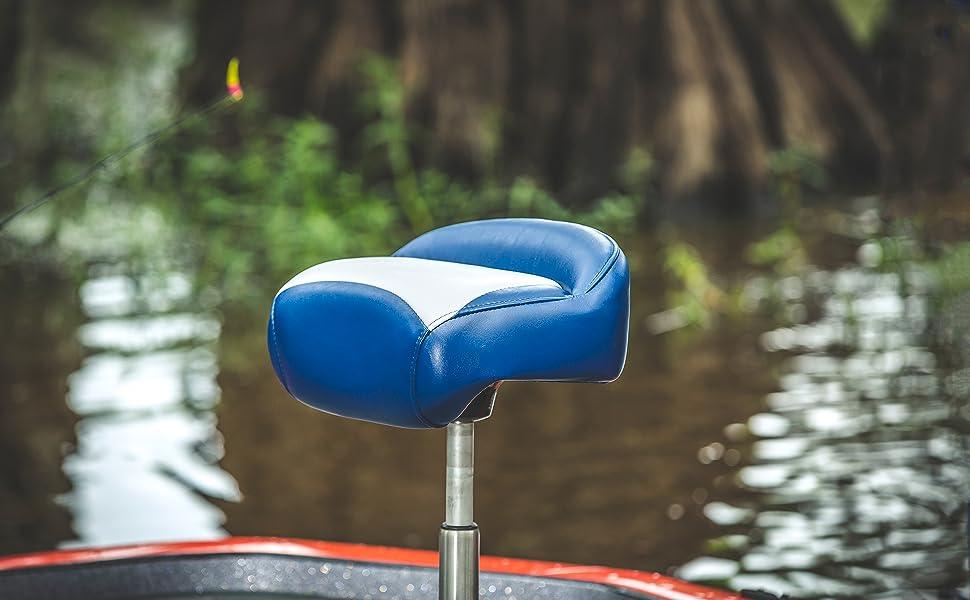 "RANGER FISHERMAN FOLDING SEAT GRAY BLUE 25/"" X 18 5//8/"" X 22/"" MARINE BOAT"