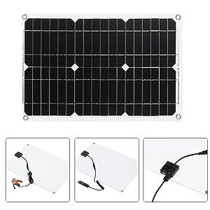 KKmoon Kit Pannello Solare 180W 12V Modulo Monocristallino Off Grid con Kit di Connessione SAE per Controller di Carica Solare
