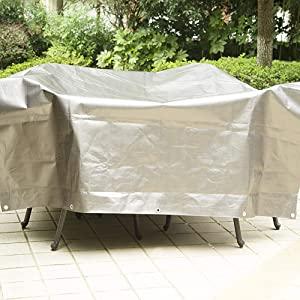 Laneetal Lona Funda Protectora Resistente al Agua y Anti-UV Cubierta de Madera Impermeable Gris 2x3m 180g/m² 0930061