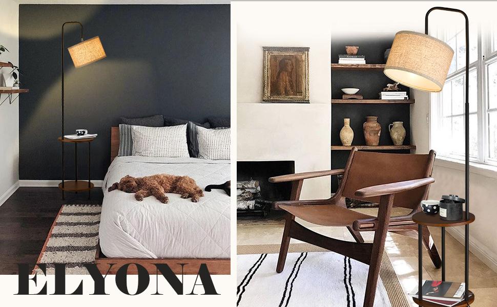 Bedside Nightstand Lamp for Bedroom, Living Room, Office - Black-Scene graph-B+(970X600)3(3)