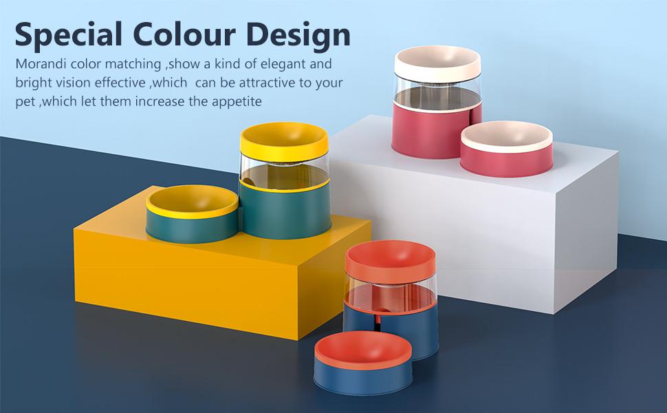 different colour  pet bowls