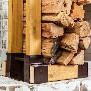 Indoor Firewood Log Brackets Brown