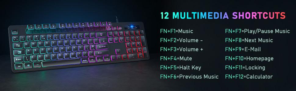 wired backlit keyboard