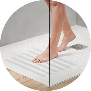 doorzichtige antislipstroken badkuip douche