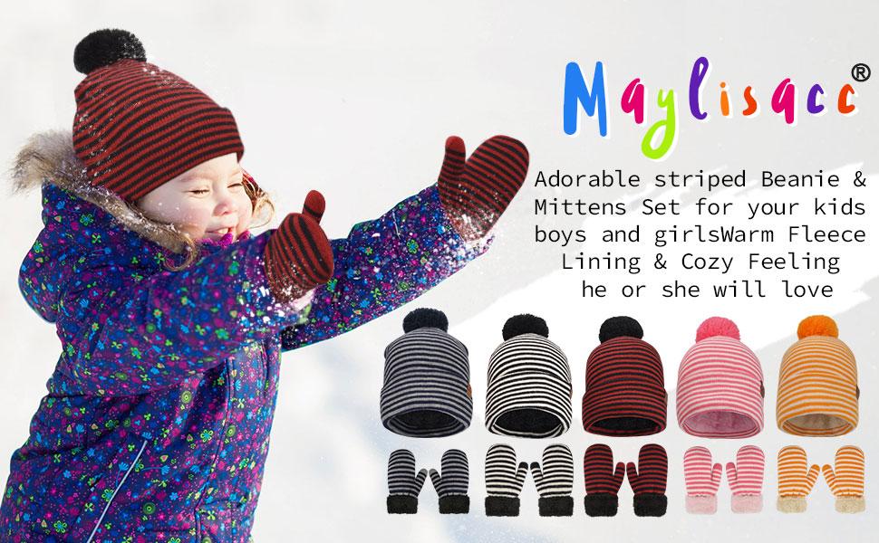 toddler hat and glove set boy girl