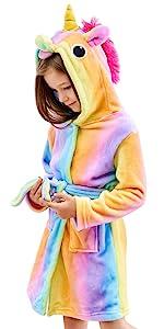 rainbow bathrobe, doctor unicorn