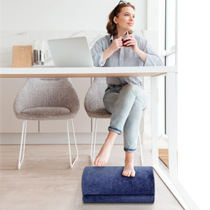 foot rest  Adjustable Foot Rest – Foot Rest Under Desk Cushion Provides More Comfort for Legs, Ergonomic Footrest Cushion Reduces Pressure on Legs, Ideal for Airplane, Home and Office 070f18e8 afc7 4285 a7f2 14354f95bb8d
