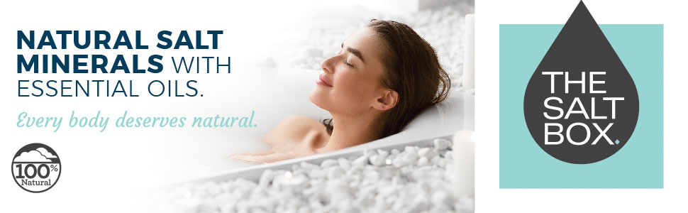 natural bath salt soak essential oil minderals
