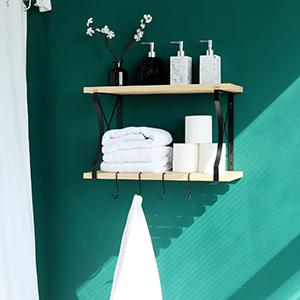 pot rack on wall