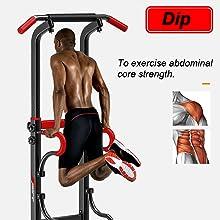 Soportes para fondos Tire hacia arriba de la barra Musculación Gimnasio en casa Equipo de entrenamiento multifuncional